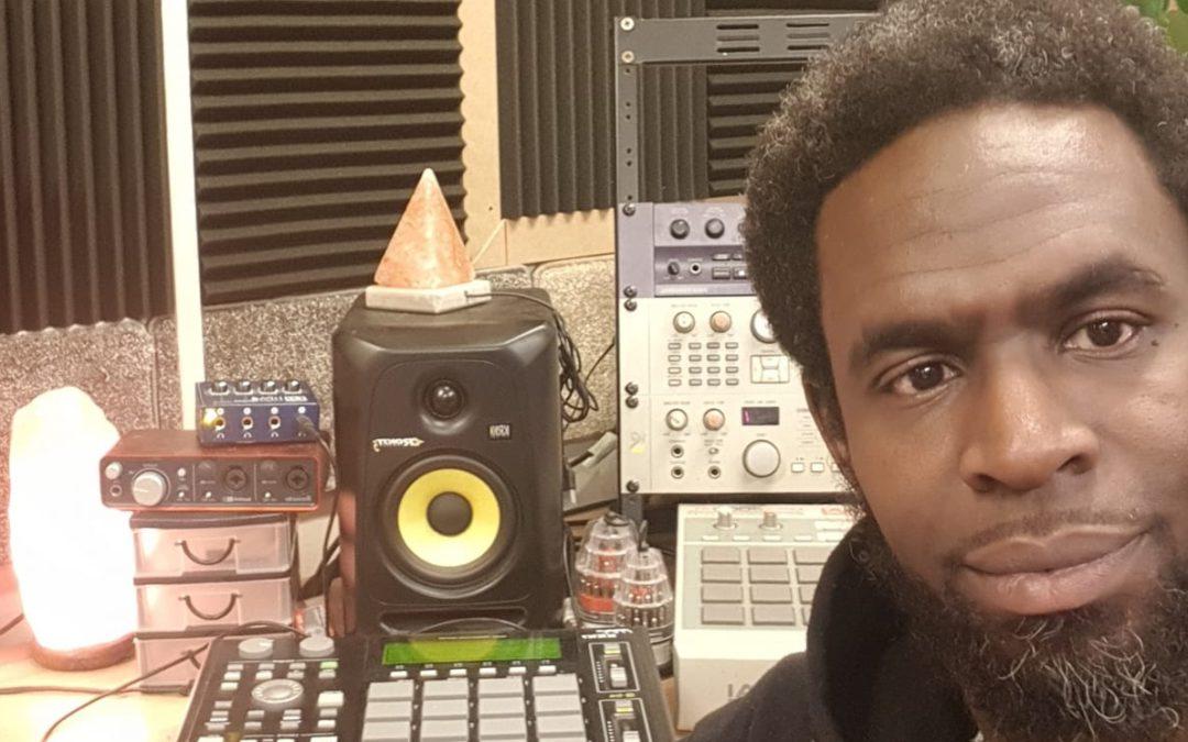 Photo of Naji in his studio